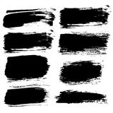Different Brush Strokes Backgrounds Set Royalty Free Stock Images