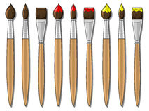 Different brushes  vector illustration Royalty Free Stock Photo