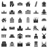 Different building icons set, simple style. Different building icons set. Simple style of 36 different building vector icons for web isolated on white background Royalty Free Stock Images