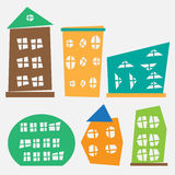Different and buildings illustration. Different shops and buildings illustration Royalty Free Stock Photos