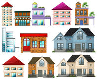 Different buildings Royalty Free Stock Photography