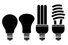 Different Bulb royalty free illustration