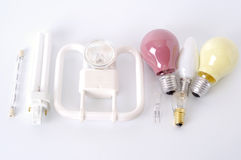 Different bulbs. A lot of different bulbs Royalty Free Stock Photography