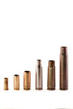 Different bullet shells Royalty Free Stock Photos