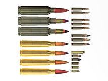 Different bullets. Stock Image