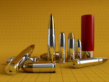 Different bullets Stock Photography