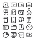 Different business icons set Stock Photos