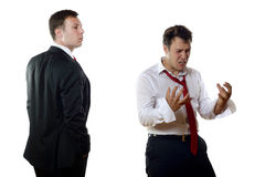 Different business men feelings Royalty Free Stock Image