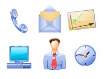 Different business objects and people Royalty Free Stock Images