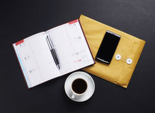 Different business objects on the table Royalty Free Stock Photos