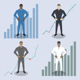 Different businessman characters. royalty free illustration