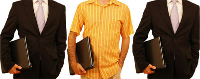 Different businessmen Stock Photography