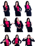 Different Businesswoman Expressions Stock Photos