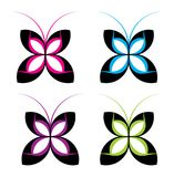 Different butterfly design template set. This is modern and classic butterfly design set, use it your multiple propose Stock Images