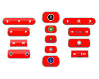 Different buttons. And arrows on white background royalty free illustration