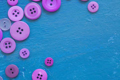 Different buttons on blue canvas Royalty Free Stock Photos
