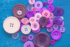 Different buttons on blue canvas Royalty Free Stock Photography