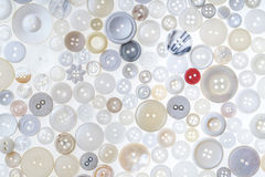 Different buttons. Lots of different colored and shaped buttons on a white background Royalty Free Stock Image