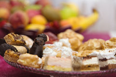 Different cakes on banquet table Royalty Free Stock Photography