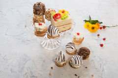 Different cakes composition Royalty Free Stock Photos