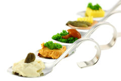 Different Canapes Royalty Free Stock Images