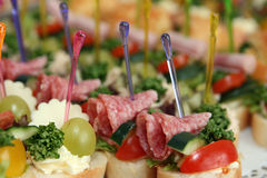 Different canapes Royalty Free Stock Photography
