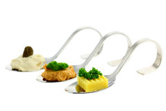 Different Canapes Royalty Free Stock Image