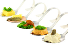 Different Canapes. Stock Image