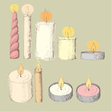 Different candles Royalty Free Stock Images