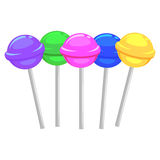 Different Candy Lollipop Royalty Free Stock Photos