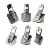Different captures of a dect phone Stock Image