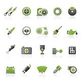Different Car part and services icons. Icon set Stock Photo