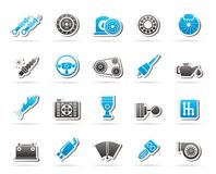 Different Car part and services icons. Vector icon set Royalty Free Stock Image