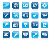 Different Car part and services icons. Icon set Royalty Free Stock Photo