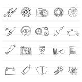 Different Car part and services icons. Vector icon set Royalty Free Stock Photography