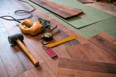 Different carpenter tools Stock Images