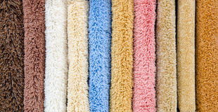 Different carpet samples Royalty Free Stock Images