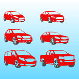 Different Cars silhouettes vector illustration Stock Photography