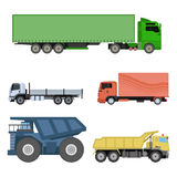 Different cars transport vector set. Royalty Free Stock Photos