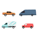 Different cars transport vector set. Royalty Free Stock Photo