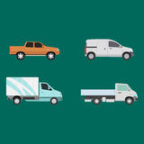 Different cars transport vector set. Royalty Free Stock Image