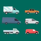 Different cars transport vector set. Royalty Free Stock Images