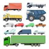 Different cars transport vector set. Stock Images