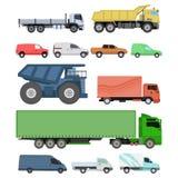 Different cars transport vector set. Stock Photos