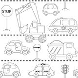 With different cars vector illustration