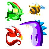 Different cartoon animals collection royalty free stock photos