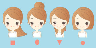 Different cartoon woman face. Great for your concept Stock Photo