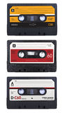 Cassette tapes. 3 different cassette tape designs royalty free stock images