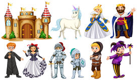 Different characters in fairy tales Stock Image