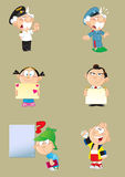 Different characters Royalty Free Stock Photography